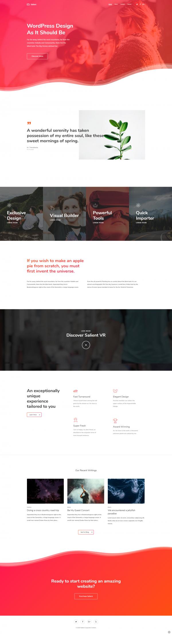 Création site internet vitrine corporate creative